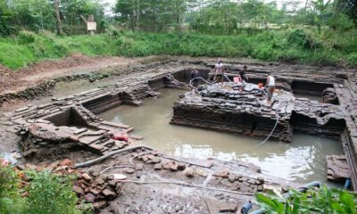 Penggalian Situs Petirtaan Kuno di Jombang