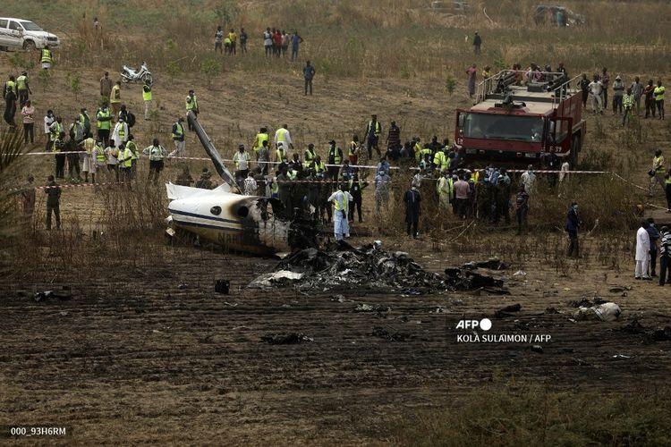 7 Meninggal Dalam Kecelakaan Pesawat Militer Nigeria