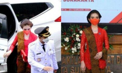 Pelantikan Wali Kota Solo, Gibran Rakabuming Ditemani Istri