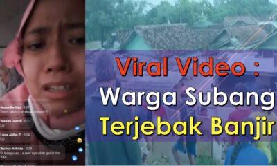 Viral Video;Warga Subang Terjebak Banjir