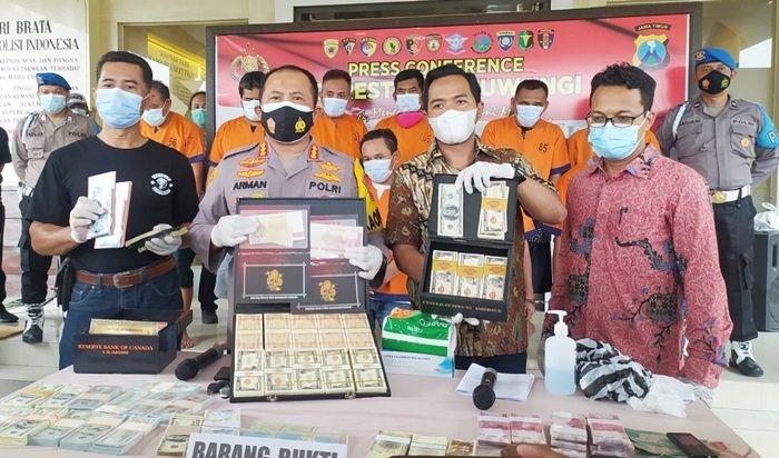 Polresta Banyuwangi Berhasil Gagalkan Sindikat Peredaran Uang Palsu Senilai Rp2,8 Triliun