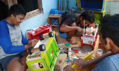 Kreativitas Siswa Usai Daring Membuat Miniatur Truk Diminati Dipasaran