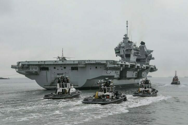 Inggris Kirim HMS Queen Elizabeth ke Laut Cina Selatan