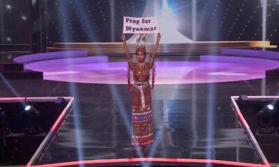 Kontestan Myanmar Suarakan Negaranya di Ajang Miss Universe