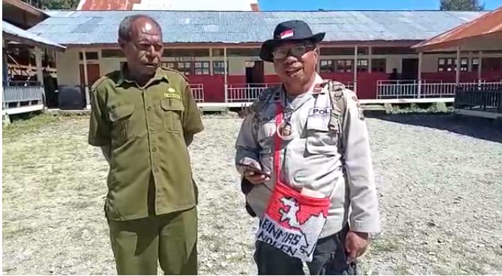 Binmas Noken Semangati Siswa SD Yokatapa dan SD YPPK Bilorai Sugapa Dalam Ujian