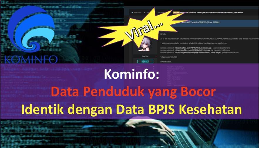 Kominfo: Data Penduduk yang Bocor Identik dengan BPJS Kesehatan