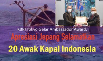 KBRI Tokyo Gelar Ambassador Award, Apresiasi Jepang Selamatkan 20 Awak Kapal Indonesia
