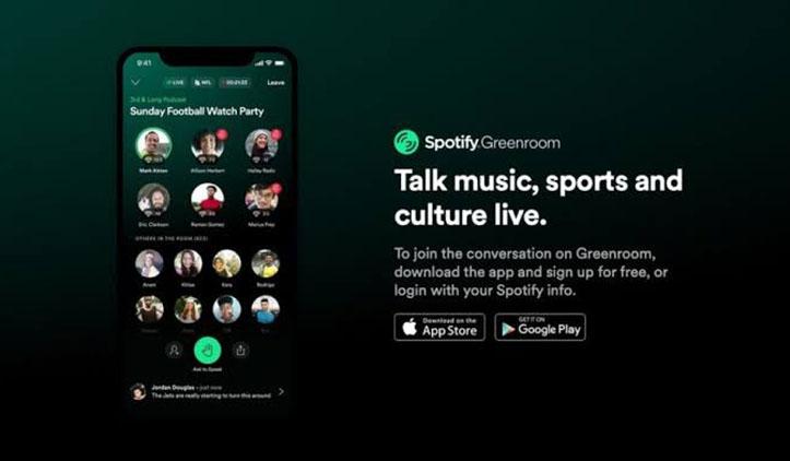 Saingi Clubhouse, Spotify Luncurkan Greenroom
