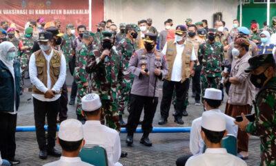 Penanganan Covid, Kapolri Tegaskan Bangkalan Harus Maksimalkan 3T dan 5M