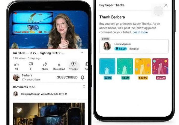 YouTube Tambahkan Cara Baru Untuk Memberi Tip ke Konten Kreator