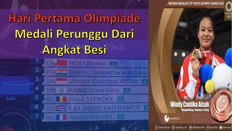 Hari Pertama Olimpiade, Medali Perunggu dari Angkat Besi
