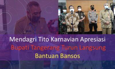 Mendagri Tito Karnavian Apresiasi Bupati Tangerang Turun Langsung Bantuan Bansos