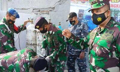 Bantu Warga Isoman, TNI AL Banyuwangi Buka Pengisian Oksigen Gratis