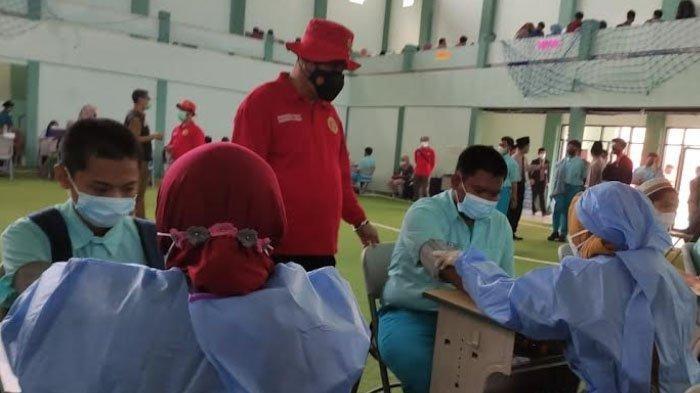 Persiapan PTM, Ribuan Santri di Sidoarjo Jalani Vaksin Covid Dosis Kedua