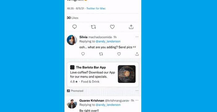 Twitter Uji Coba Hadirkan Iklan di Balasan Tweet